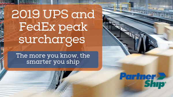 2019 UPS and FedEx Peak Surcharges