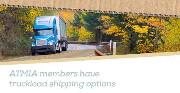 ATMIA members have truckload shipping options