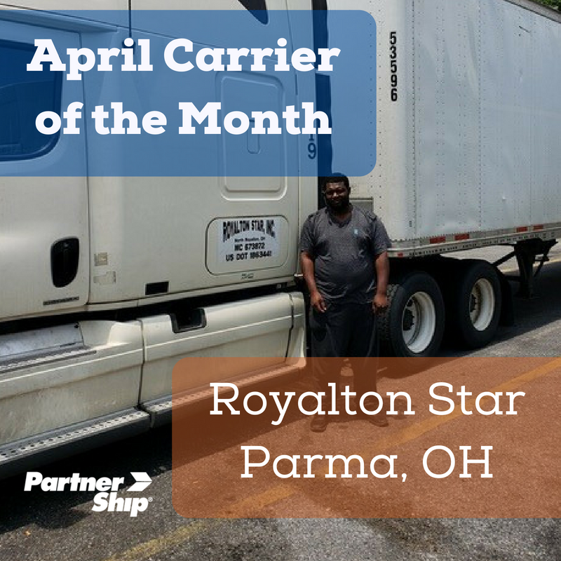 We ❤ Our Carriers! The April 2018 Carrier of the Month