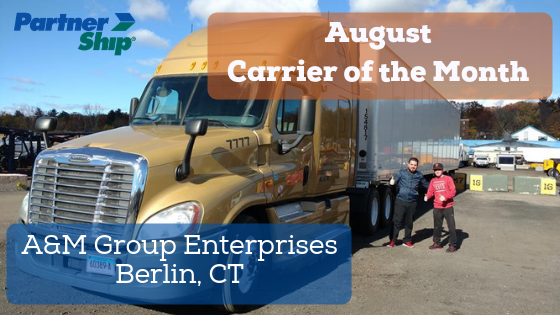 PartnerShip Loves Our Carriers! Here is Our August 2018 Carrier of the Month