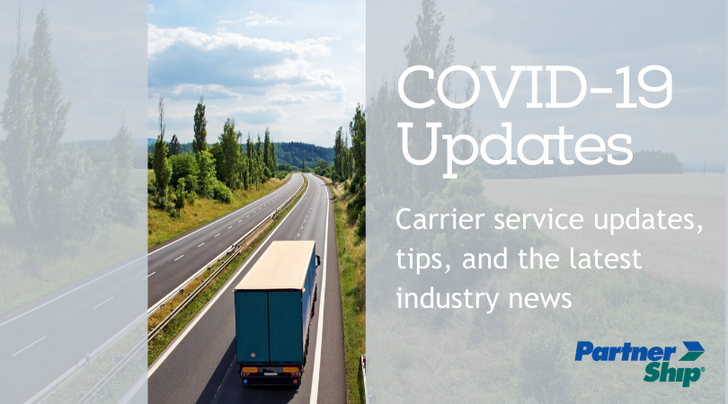 COVID-19 Shipping Updates