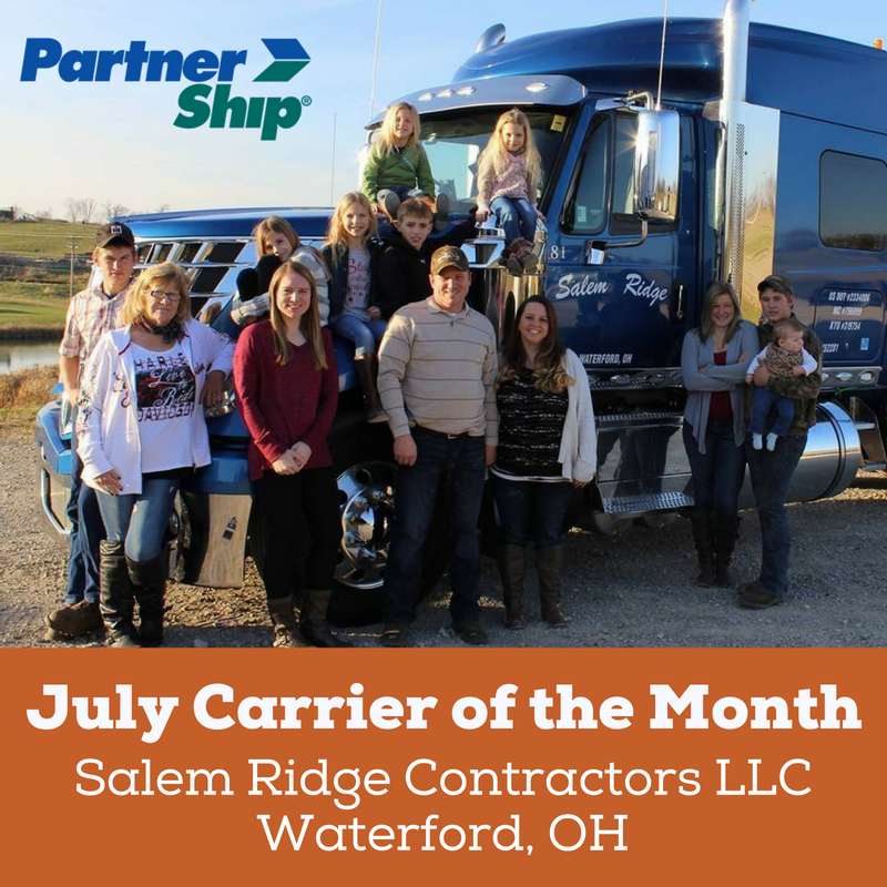 PartnerShip Loves Our Carriers! Here is Our July 2018 Carrier of the Month