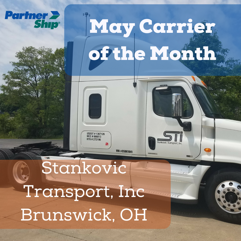 PartnerShip Loves Our Carriers! Here is Our May 2018 Carrier of the Month