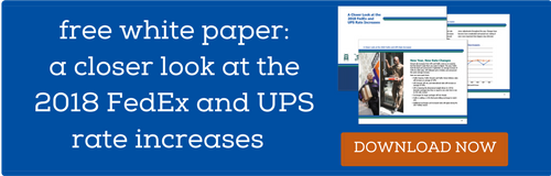 Download the free white paper: A Closer Look at the 2018 FedEx and UPS Rate Increases