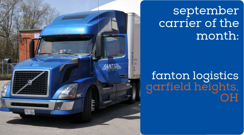 PartnerShip Loves Our Carriers! Here is Our September 2018 Carrier of the Month