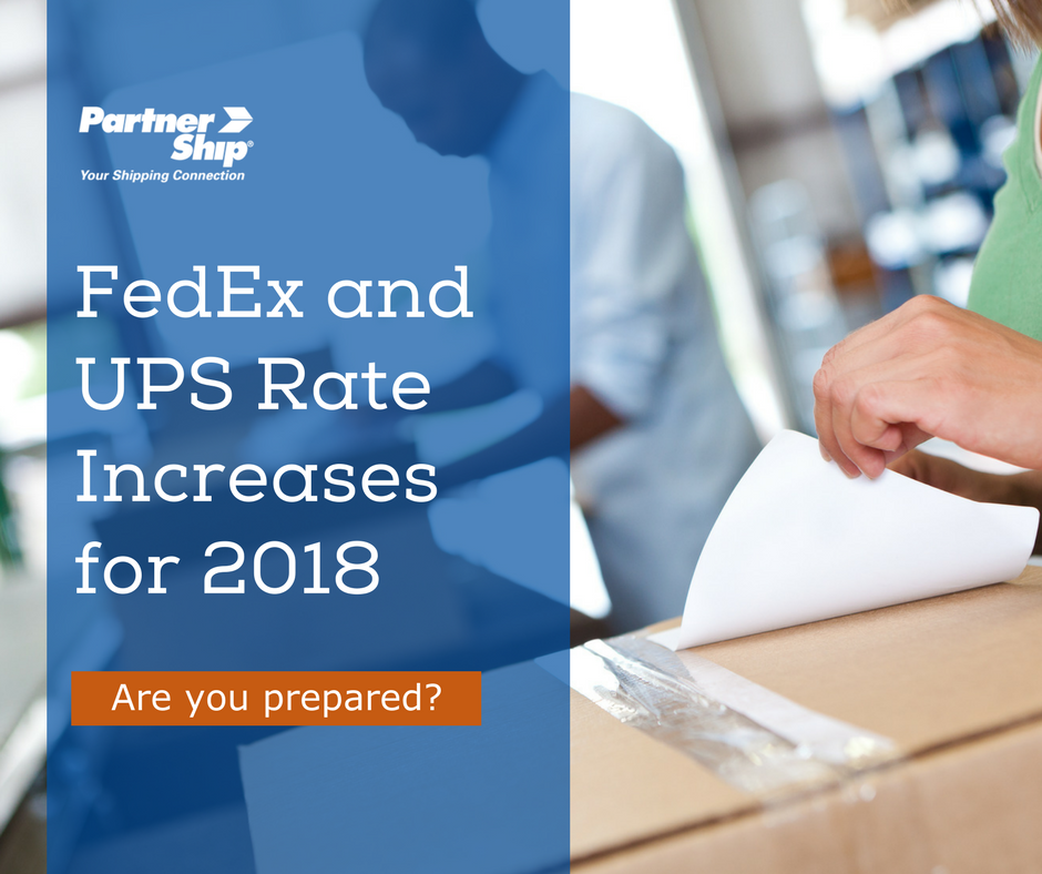 FedEx and UPS Rate Increases for 2018